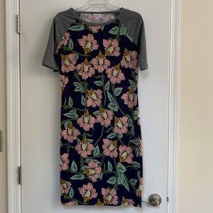 Lularoe Julia floral baseball tee dress
